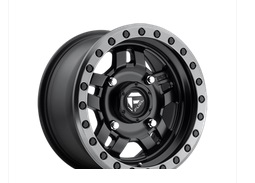Fuel Offroad Anza Beadlock Series Matte Black with Anthracite Ring