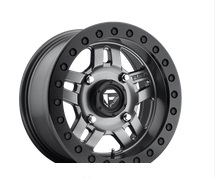 Fuel Offroad Anza Beadlock Series Matte Anthracite with Black Ring