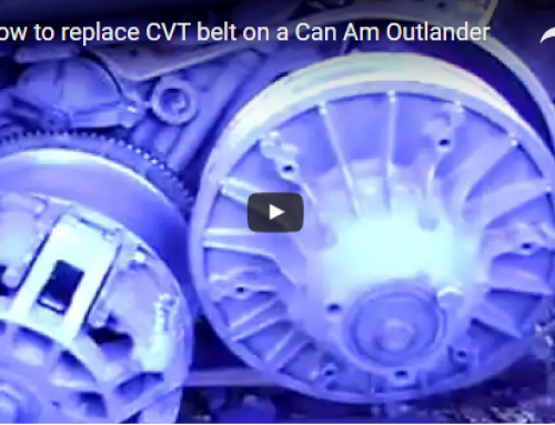 How to replace CVTbelt on a Can Am Outlander