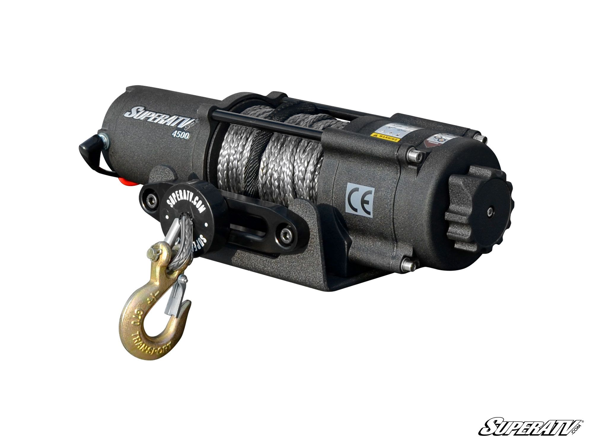 4500 lb  synthetic rope atv winch
