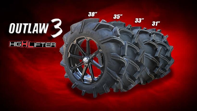 Outlaw 3 Tire - 33x9-18 - MSC Powersports